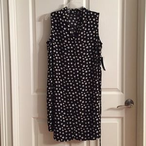 Apt 9 Black Midi Dress Sleeveless size 12